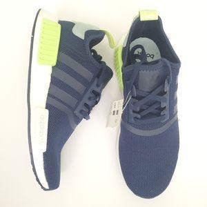 NWT Adidas Originals NMD_R1 J Boost in Navy & Mint